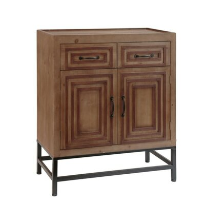 O?Kean Spacious Wooden 2 Door Accent Cabinet