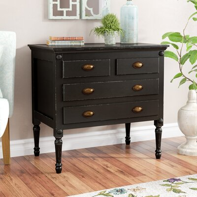 Griffith 4 Drawer Accent Chest Color: Black