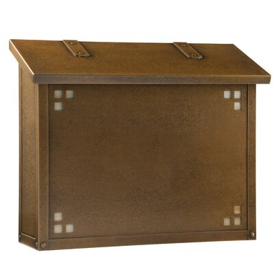 Pasadena Wall Mounted Mailbox Finish: Warm Brass, Glass Color: Honey