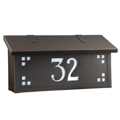 Pasadena Wall Mounted Mailbox Finish: Architectural Bronze, Glass Color: Honey