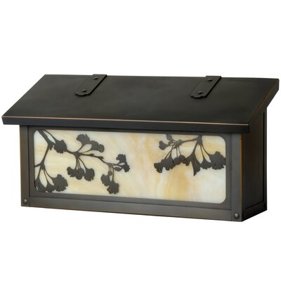 Ginkgo Wall Mounted Mailbox Finish: Architectural Bronze, Glass Color: Champagne