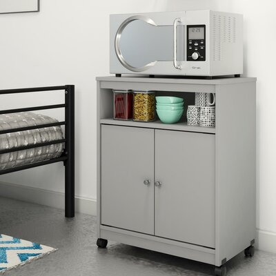 Kory Microwave Cart Finish: Dove Gray