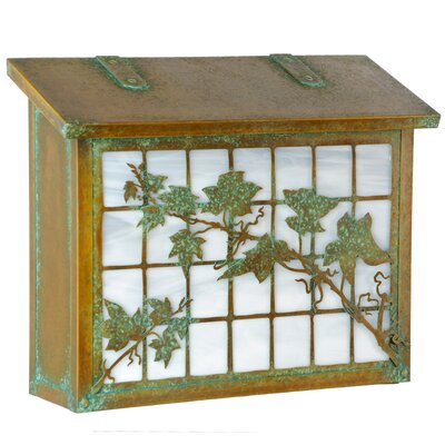 English Ivy Wall Mounted Mailbox Finish: Architectural Bronze, Glass Color: Champagne