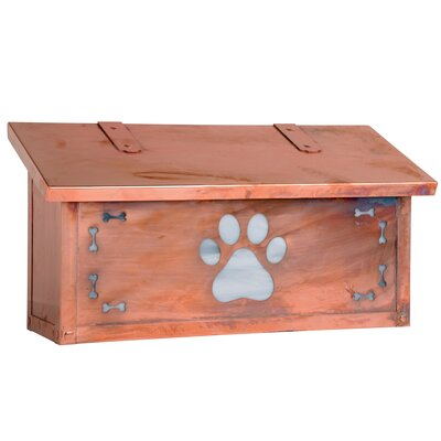Dog Paw Wall Mounted Mailbox Post Color: Wispy White, Mailbox Color: Old Penny