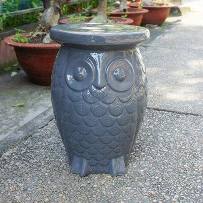 Makhzane Owl Ceramic Garden Stool Finish: Grey Glaze