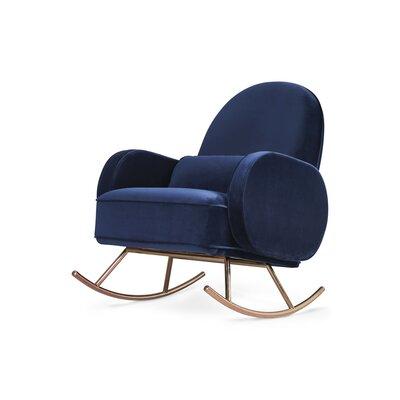 Compass Rocking Chair Fabric: Navy Velvet