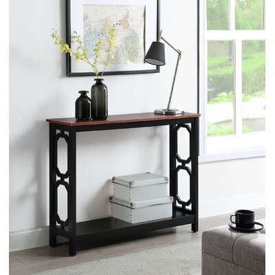 Ardenvor Console Table Table Base Color: Black, Table Top Color: Cherry