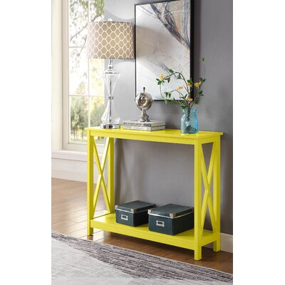 Stoneford Console Table Color: Yellow