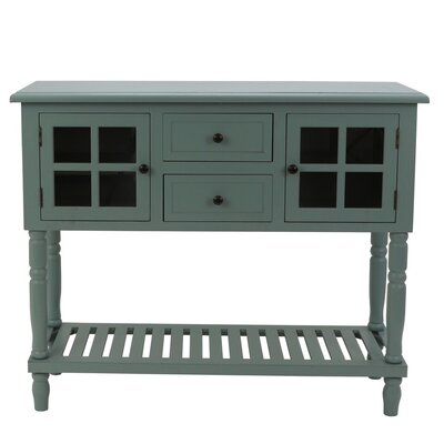 Decarlo Console Table Color: Antique Iced Blue