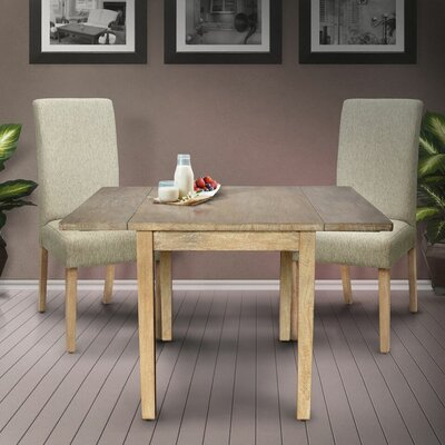 Kiska Drop Leaf Dining Table Base Color: Rustic Mango Gray Wash, Top Color: Rustic Mango Gray Wash