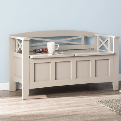 Middlefield Wood Storage Bench Color: Gray
