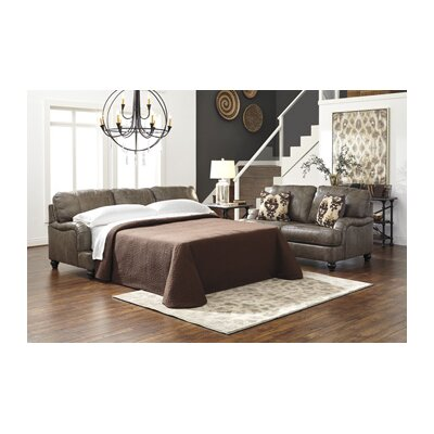 Signature Design by Ashley Kannerdy Queen Leather Sleeper Sofa & Reviews