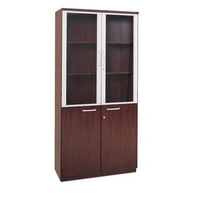 4 Door Storage Cabinet Finish: Mahogany