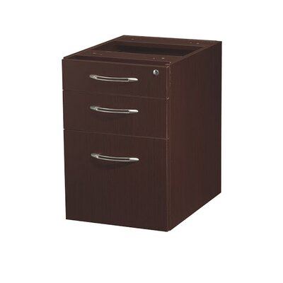 "Aberdeen 22.5"" H x 15.25"" W Desk File Pedestal Finish: Mocha"