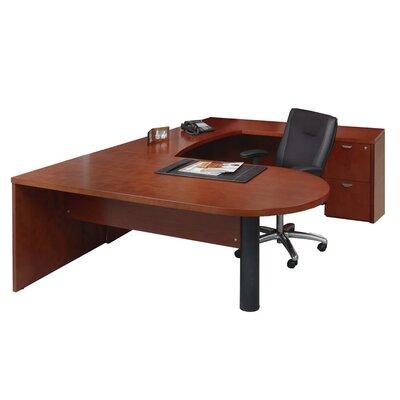 Mira Series U-Shape Executive Desk Finish: Medium Cherry