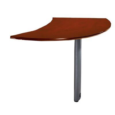 "Napoli 29.5"" H x 47"" W Desk Peninsula Finish: Sierra Cherry Veneer, Orientation: Right"
