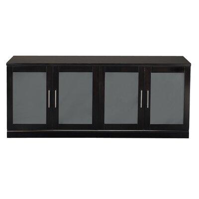 Sorrento Series 4 Door Storage Cabinet Finish: Espresso Veneer