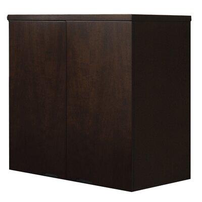 Mira Series 2 Door Storage Cabinet Finish: Espresso