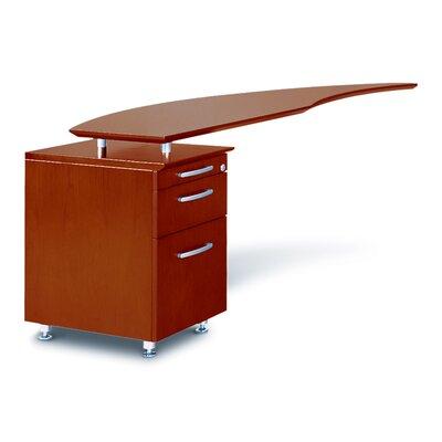 "Napoli 29.5"" H x 63"" W Desk Return Finish: Sierra Cherry Veneer, Orientation: Left"