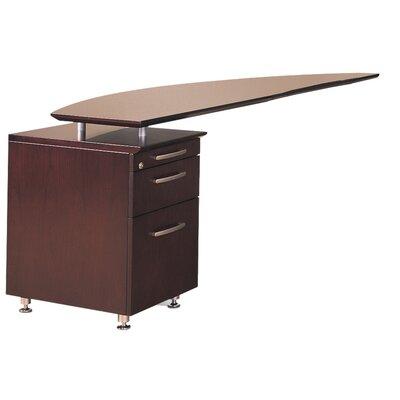 "Napoli 29.5"" H x 63"" W Desk Return Finish: Mahogany Veneer, Orientation: Right"