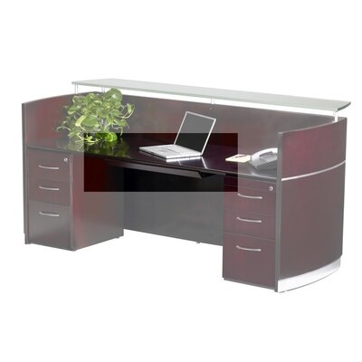 "Napoli 30"" W x 18"" D Desk Drawer Finish: Mahogany Veneer"