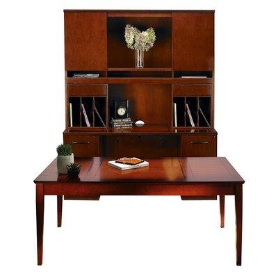Sorrento Series 4-Piece Standard Desk Office Suite Color: Bourbon Cherry Veneer