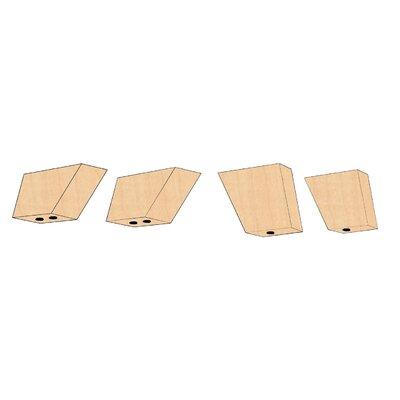 Lounge Series Santa Cruz with Optional Foot Kit Color: Maple Veneer