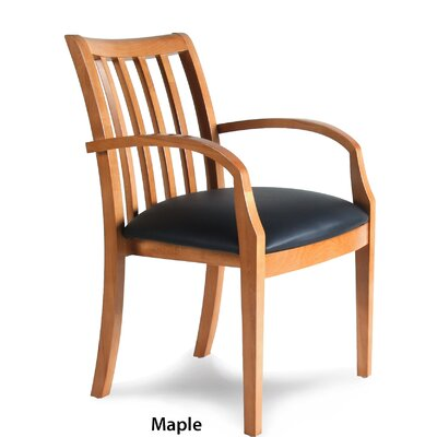 Leather Guest Chair Finish: Maple Veneer