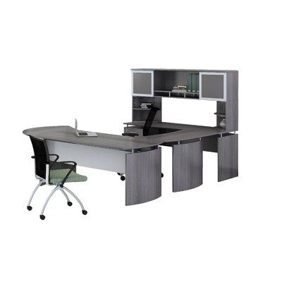 "Medina Series 3-Piece U-Shape Desk Office Suite Color: Gray Steel, Size: 65.75"" H x 96"" W x 108"" D, Orientation: Left"