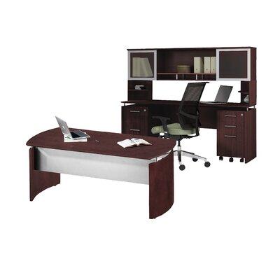 Medina Series 3-Piece Standard Desk Office Suite Color: Mahogany