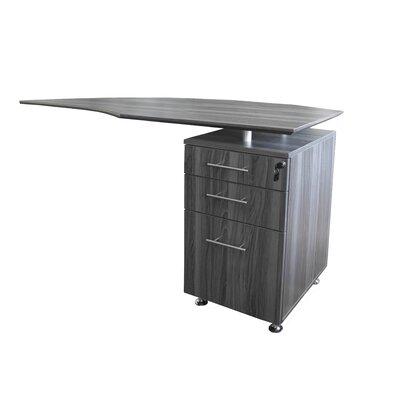 """Medina Series 29.5"""" H x 63"""" W Right Desk Return Finish: Gray Steel"""