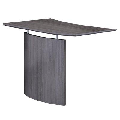 "Medina Series 29.5"" H x 48"" W Desk Bridge Finish: Gray Steel"