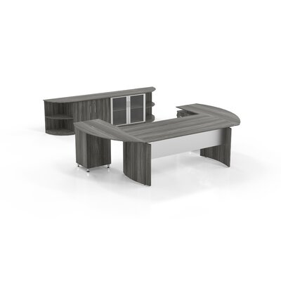 Medina Series Desk Office Suite Color: Gray Steel