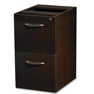 "Aberdeen 27.5"" H x 15.25"" W Desk File Pedestal Finish: Mocha"