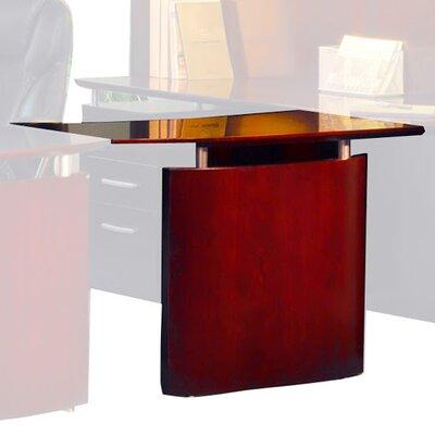 "Napoli 29.5"" H x 48"" W Desk Bridge Finish: Sierra Cherry Veneer, Orientation: Left"