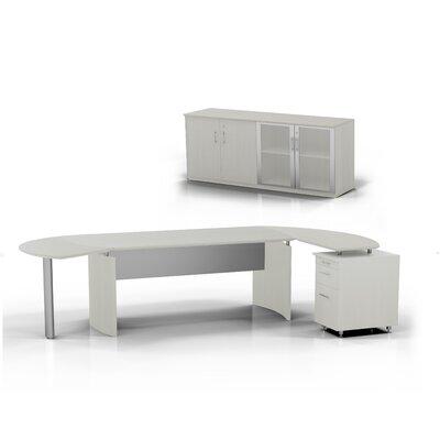Medina 5-Piece Standard Desk Office Suite Color: Textured Sea Salt, Orientation: Left