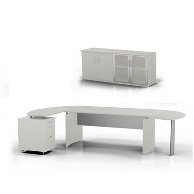 Medina 5-Piece Standard Desk Office Suite Color: Textured Sea Salt, Orientation: Right