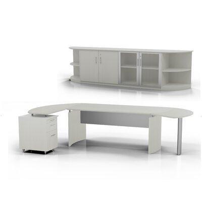 Medina 7-Piece Standard Desk Office Suite Color: Textured Sea Salt, Orientation: Right
