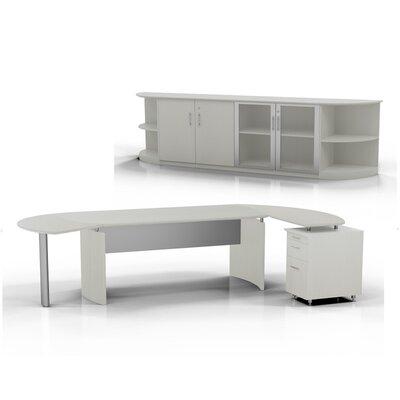 Medina 7-Piece Standard Desk Office Suite Color: Textured Sea Salt, Orientation: Left
