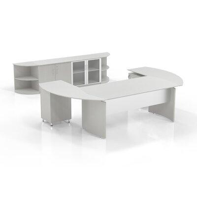 Medina 7-Piece U-Shape Desk Office Suite Color: Textured Sea Salt
