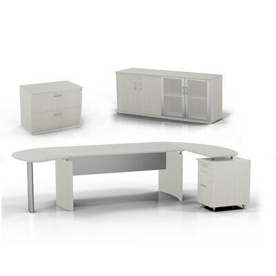 Medina 6-Piece Standard Desk Office Suite Color: Textured Sea Salt