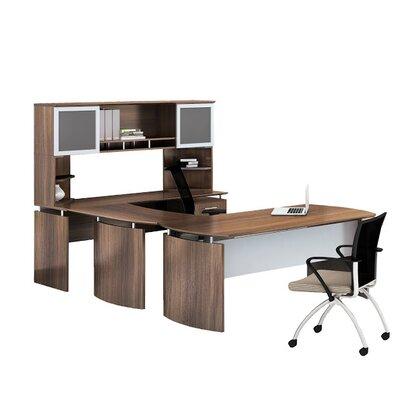 "Medina 8-Piece U-Shape Desk Office Suite Orientation: Left Hand, Color: Textured Brown Sugar, Size: 67.75"" H x 72"" W x 108"" D"