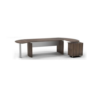 Medina 6-Piece Standard Desk Office Suite Color: Textured Brown Sugar