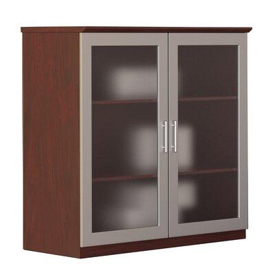 Medina Glass Door Accent Cabinet Color: Mahogany