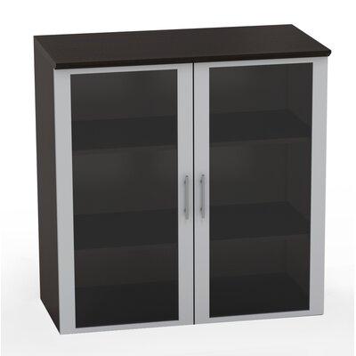 Medina Glass Door Accent Cabinet Color: Mocha
