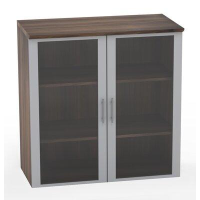 Medina Glass Door Accent Cabinet Color: Textured Brown Sugar