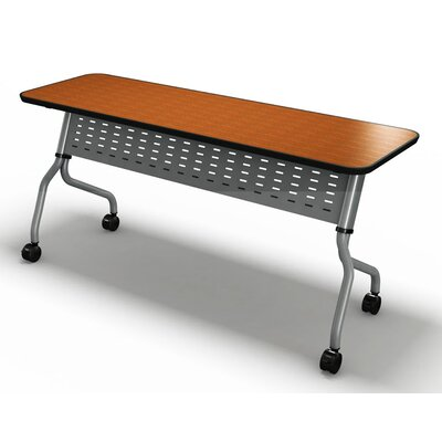 """Sync Training Table with Modesty Panel Tabletop Finish: Mocha, Size: 29"""" H x 72"""" W x 30"""" D"""