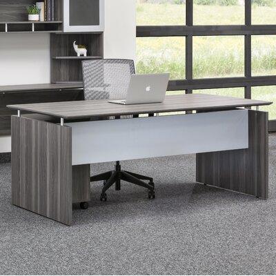 Medina Desk Shell Finish: Gray Steel