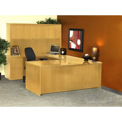 Luminary Series U-Shape Executive Desk with Hutch Finish: Maple