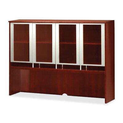 "Napoli 50.5"" H Desk Hutch Finish: Sierra Cherry Veneer, Size: 50.5"" H x 63"" W x 15"" D"